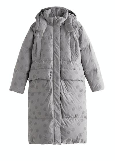 Oversized Polka Dot Puffer Coat