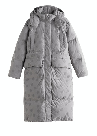 Oversized Polka Dot Puffer Coat