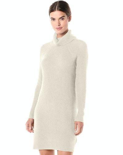 Daily Ritual Women's Wool Blend Turtleneck Sweater Dress