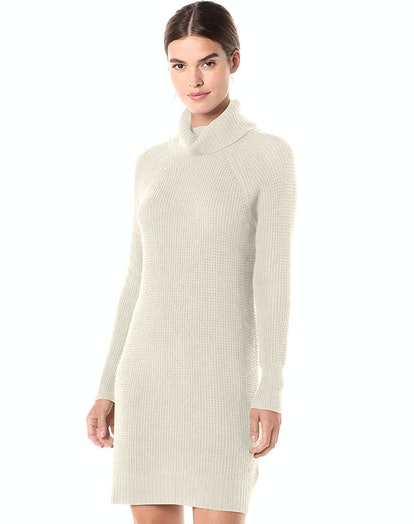 Daily Ritual Women's Wool Blend Turtleneck Sweater Dress