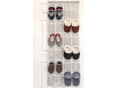 SimpleHouseware Over The Door Hanging Shoe Organizer