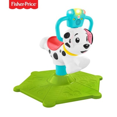 Fisher-Price Bounce and Spin Interactive Puppy with Lights & Sounds
