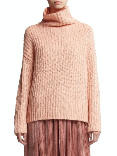 Scoop Women's Waffle Knit Turtleneck Sweater