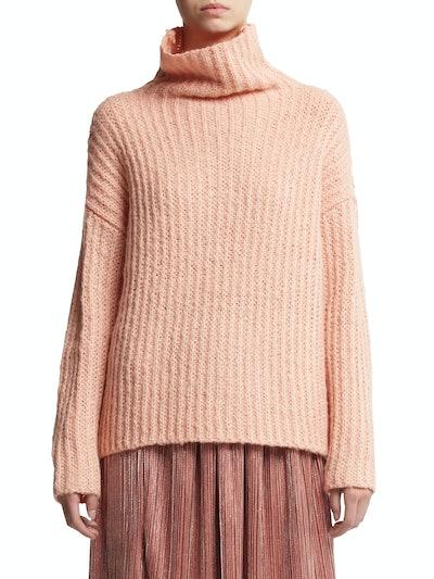 Scoop Women's Waffle Knit Turtleneck Sweater