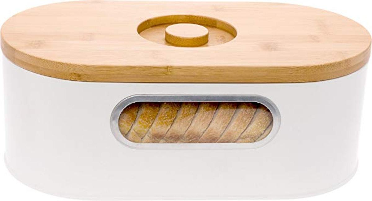 Mindful Design Bamboo Cutting Board and Bread Box