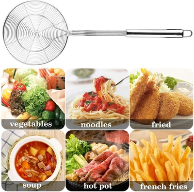 Hiware Solid Stainless Steel Spider Strainer