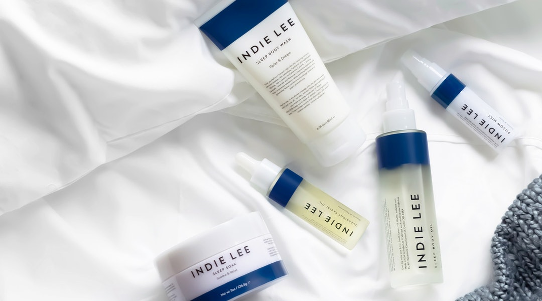 Indie Lee's new Sleep collection promotes restful sleep so you wake up refreshed.