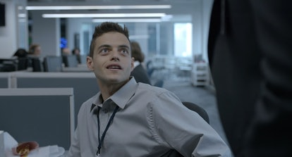 Rami Malek as Elliot Alderson in Mr. Robot
