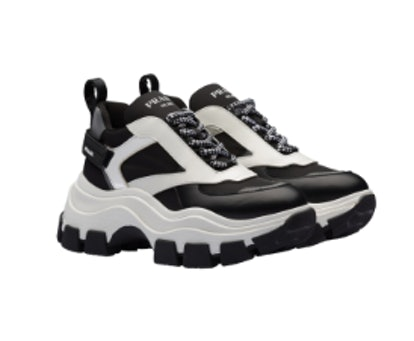 Leather and nylon Block sneakers