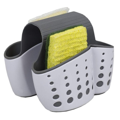 Home Basics Draining Dual Sink Sponge Holder