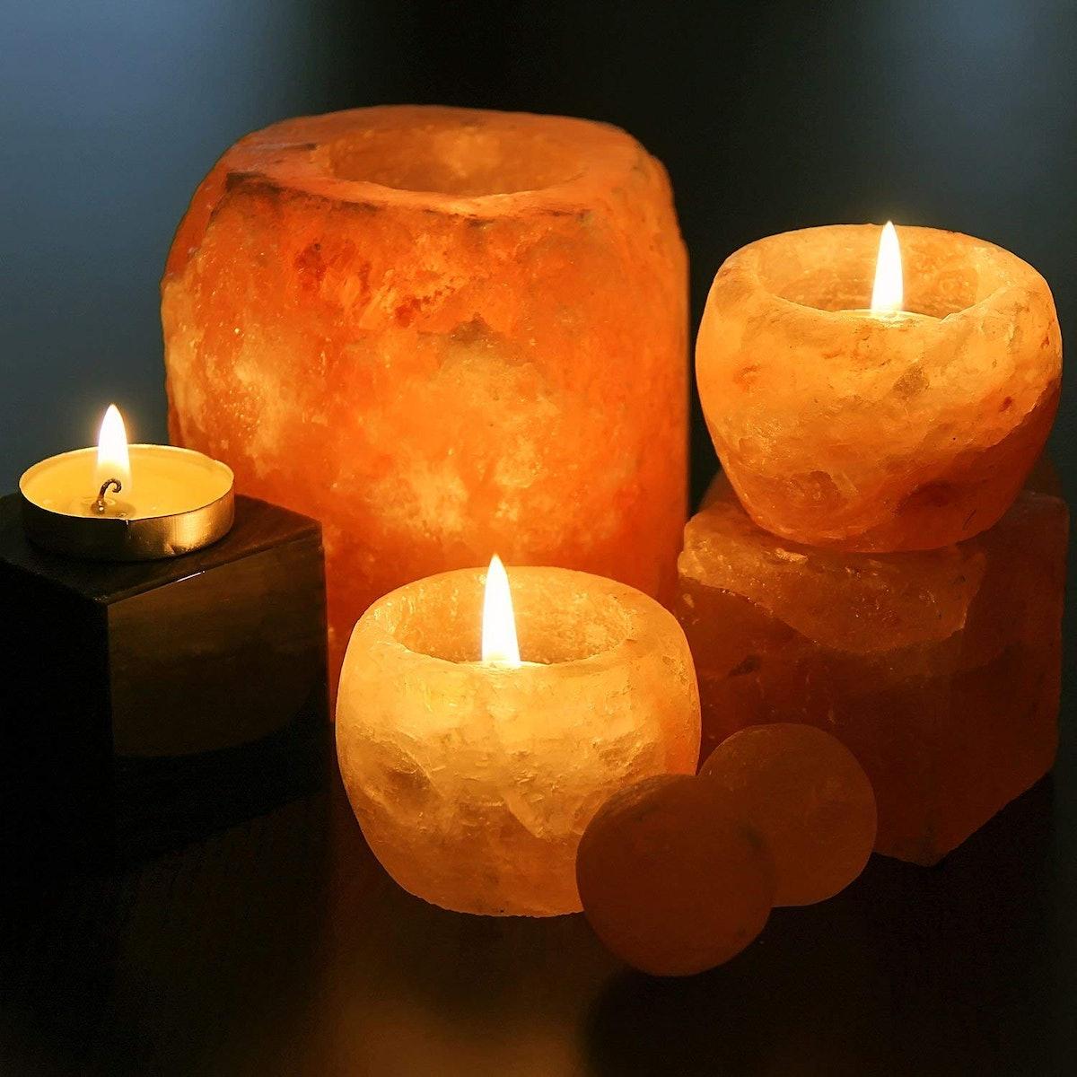 Himalayan Salt Candle Holders by Himalayan Glow