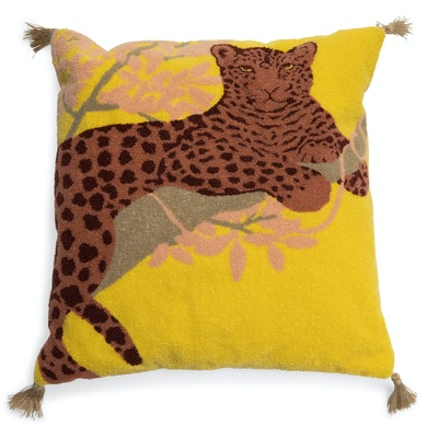 Leopard Boucle Embroidered Decorative Throw Pillow