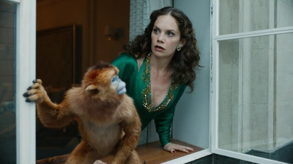 Mrs. Coulter's daemon is a golden monkey in 'His Dark Materials'