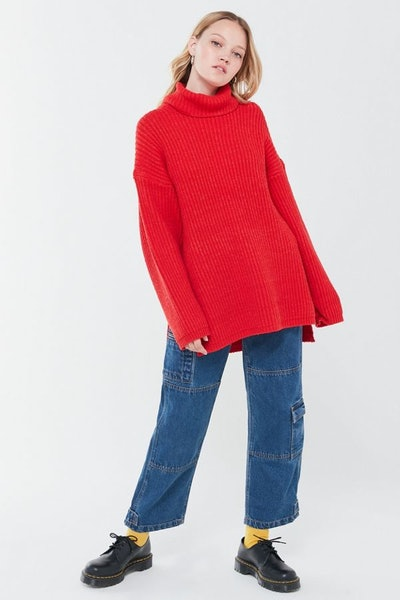 UO Tatum Turtleneck Tunic Sweater