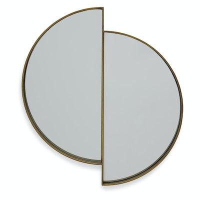 Lunar Reflecting Antique Brass Wall Mirror