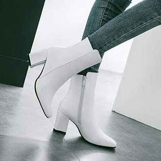 Caradise Squared-Toe Ankle Booties