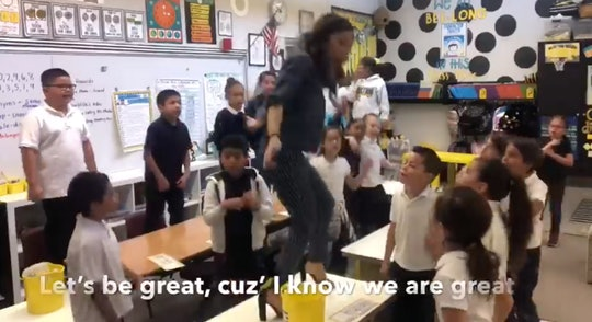 A teacher's Lizzo remix is teaching students they're great.