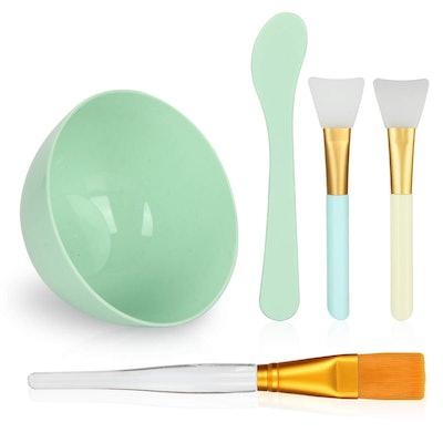 Plazuria Face Mask Mixing Bowl Set (5-Pieces)
