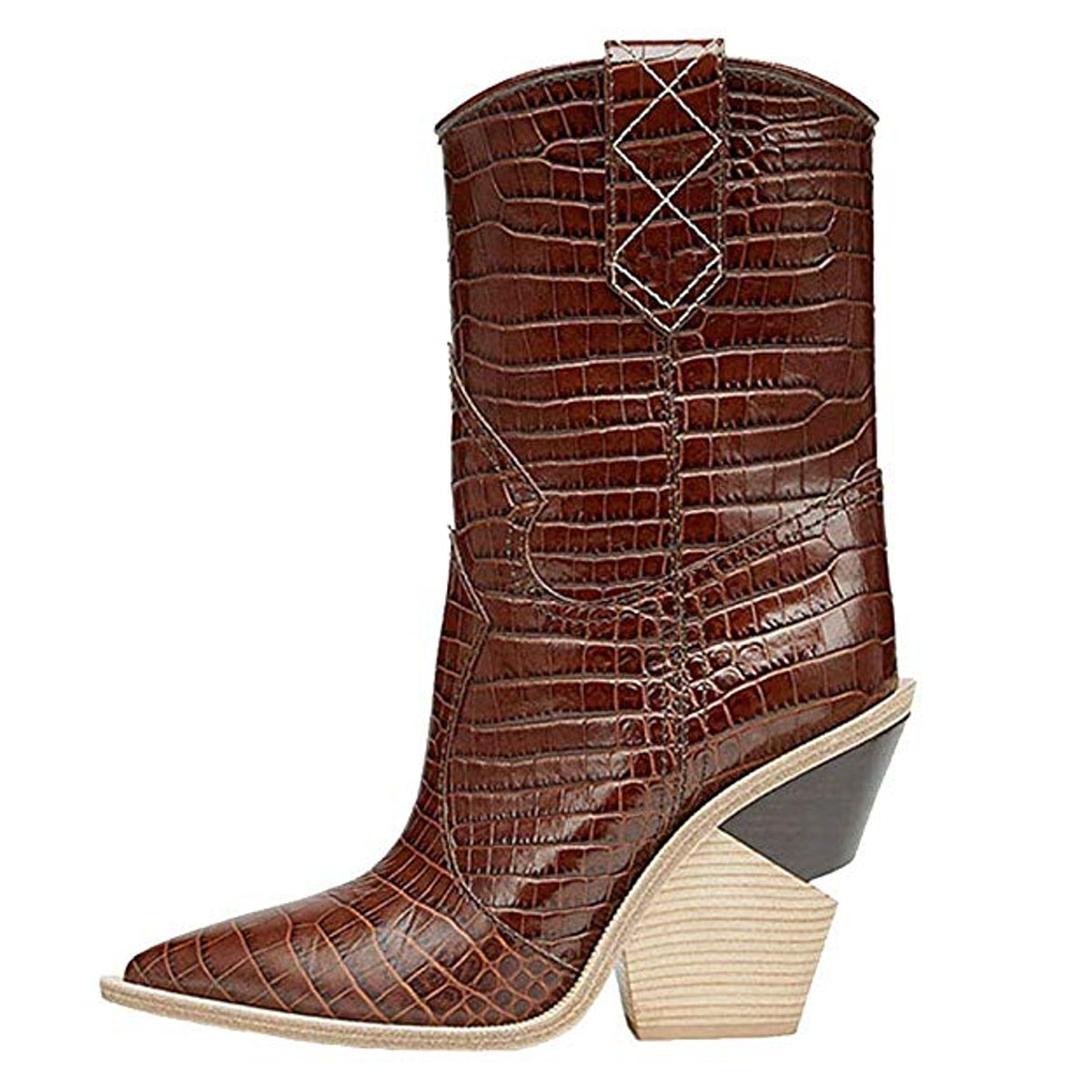 Themost Womens Cowgirl Ankle Boot