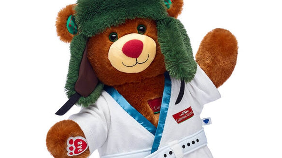 The 'Christmas Vacation' Build-A-Bear bundle features Cousin Eddie's famous bathrobe outfit.