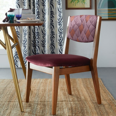 Art Deco Fan Mid-Century Dining Chair, Set of 2