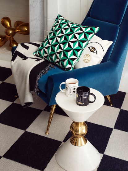 Jonathan Adler x H&M HOME collection includes mugs, pillows, and a throw