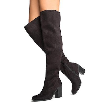 J. Adams Knee High Stacked Heel Boot