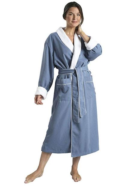 Plush Lined Microfiber Spa Robe
