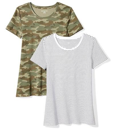 Amazon Essentials Women's Short-Sleeve T-Shirt (2-Pack)
