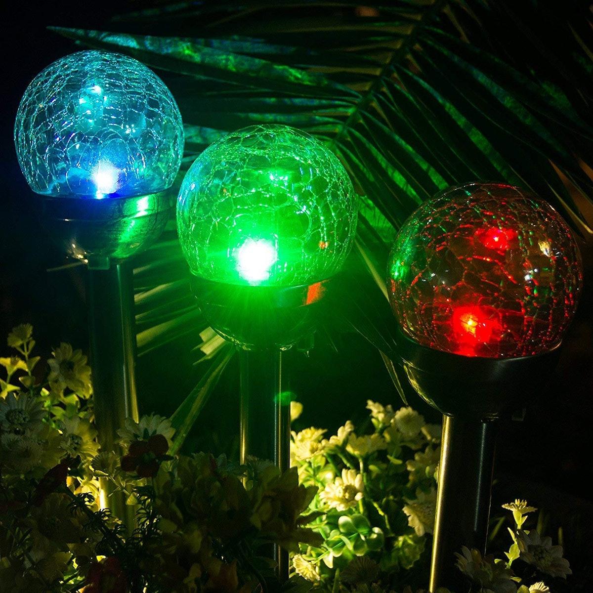 GIGALUMI Glass Ball Solar Lights