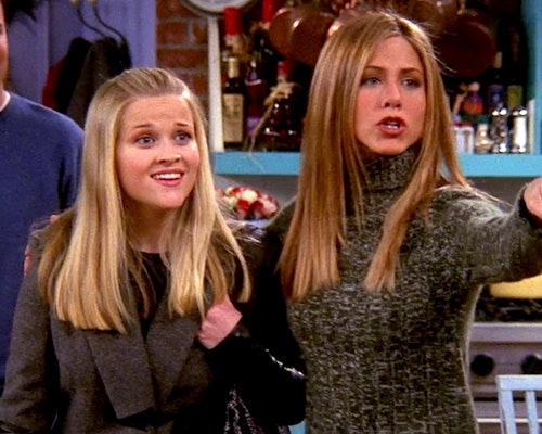 Resse Witherspoon, one of the most iconic 'Friends' celebrity cameos, and Jennifer Aniston