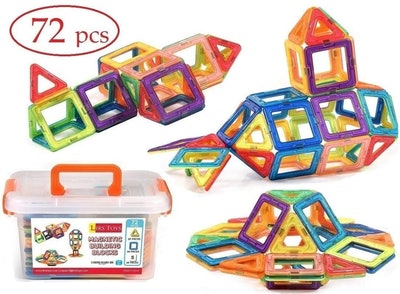 LIRS TOYS Magnetic Building Blocks (72 Pieces)