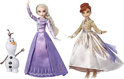 Frozen Disney Elsa, Anna, & Olaf Deluxe Fashion Dolls