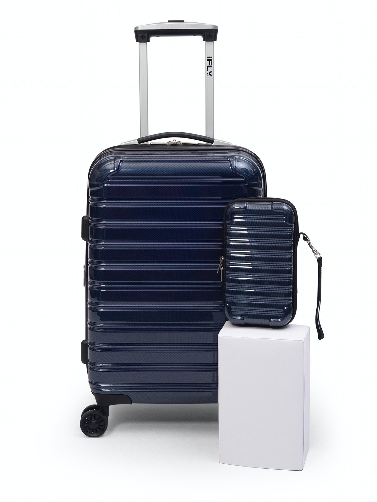 "iFLY Hard Sided Luggage Fibertech 20"" & Travel Case"