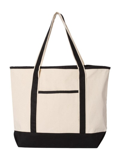 Q-Tees 34.6L Large Canvas Deluxe Tote