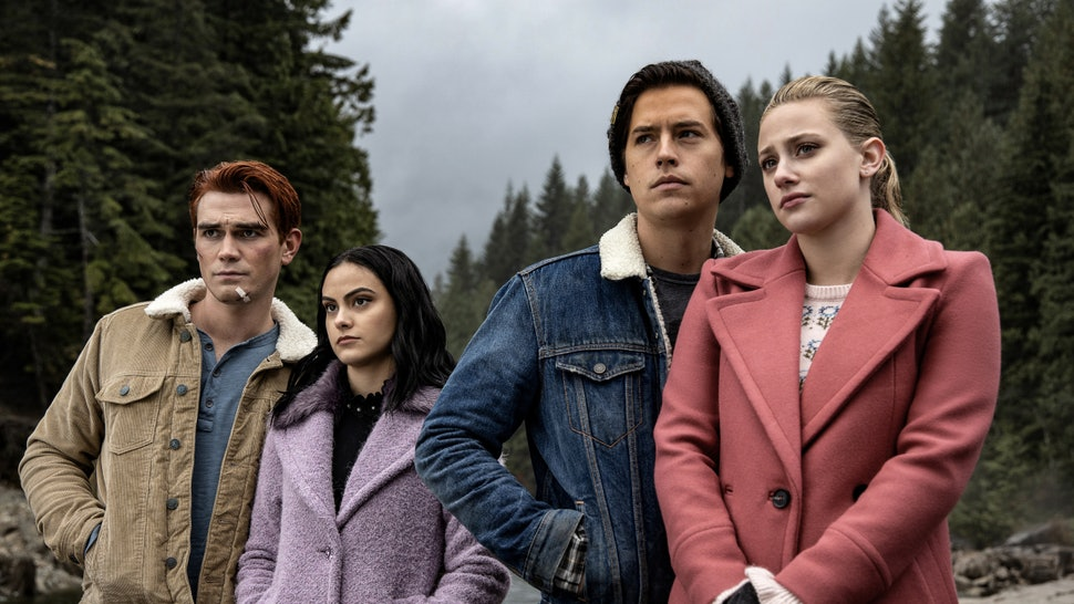 Archie, Betty, Jughead, and Veronica on Riverdale