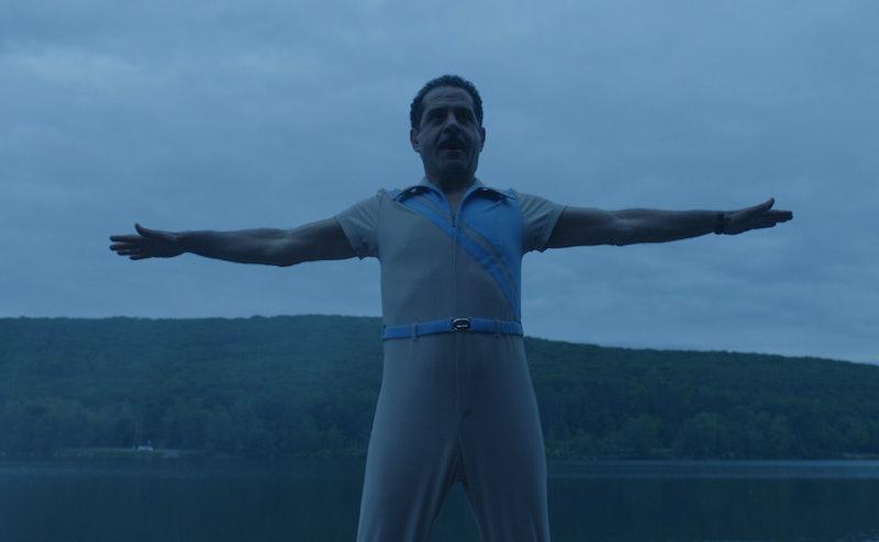 Tony Shalhoub exercising in 'The Marvelous Mrs. Maisel' Season 2