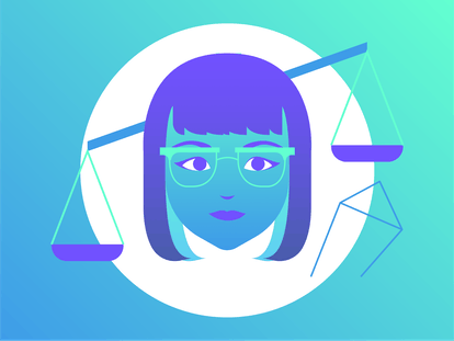 Drawing of the Libra horoscope sign.