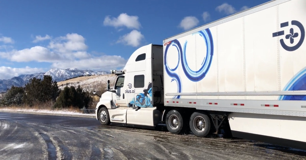 Self-driving truck completes first cross-country freight delivery