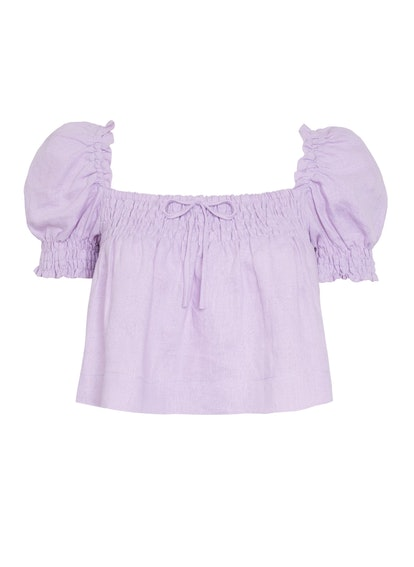Plain Iris- Lilla Top