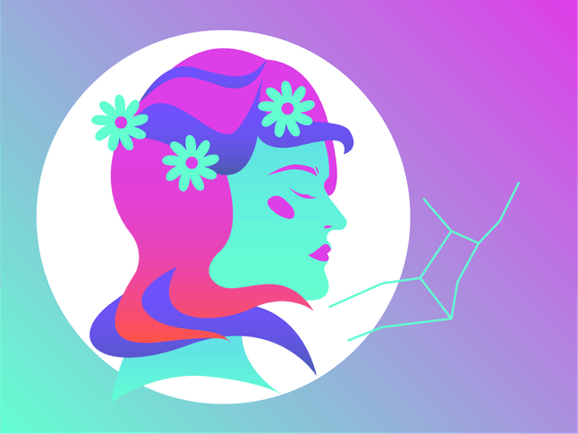 Drawing of the Virgo horoscope sign.