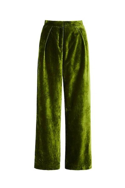 Almeida Trousers Olive Green Velvet