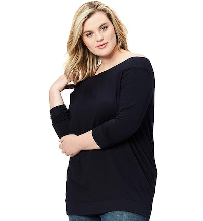 Daily Ritual Terry Cotton and Modal Cold Shoulder Tunic