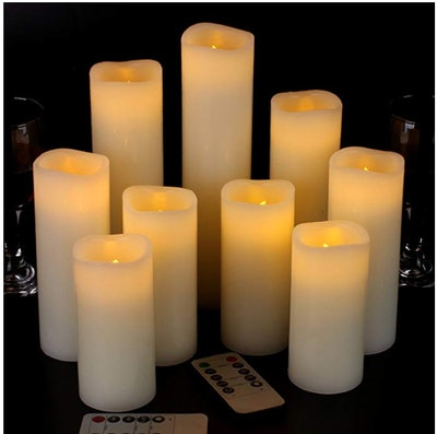 Vinkor Flameless Candles Battery Operated Candles (9-Pack)