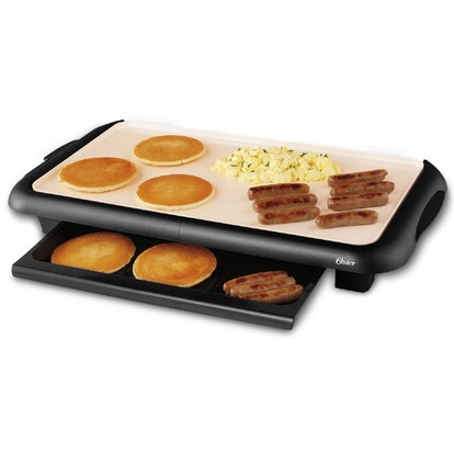 Oster Titanium Infused DuraCeramic Griddle with Warming Tray