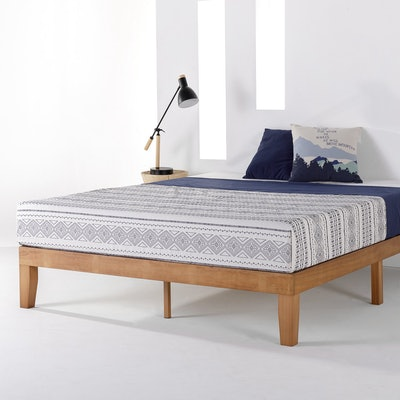 """Mellow 12"""" Classic Solid Wood Platform Bed Frame"""