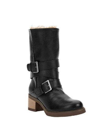 Riley Shearling Lined Stack Boots