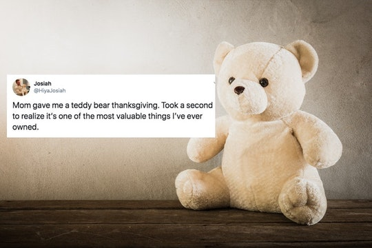 A tweet from a man whose mom gave him a teddy bear made of his grandpa's shirts is getting the internet emotional.