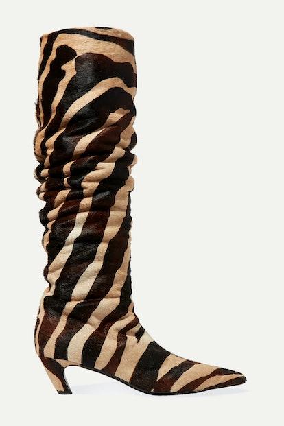 Zebra-Print Boots