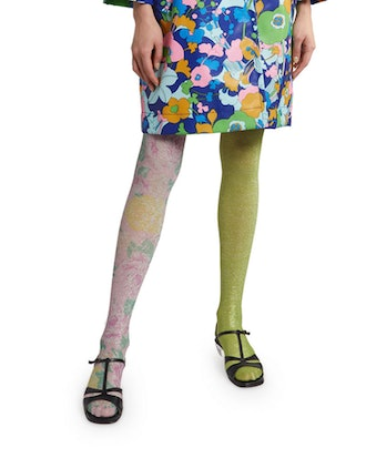 The Left And Right Printed Tights